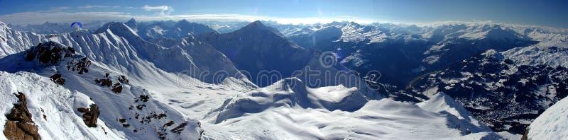 панорама lenzerheide стоковые фотографии rf
