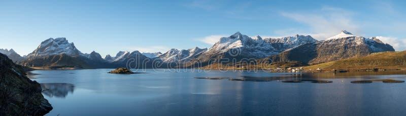 Панорама Lofoten в погоде -го октябре, идеальной стоковое фото rf