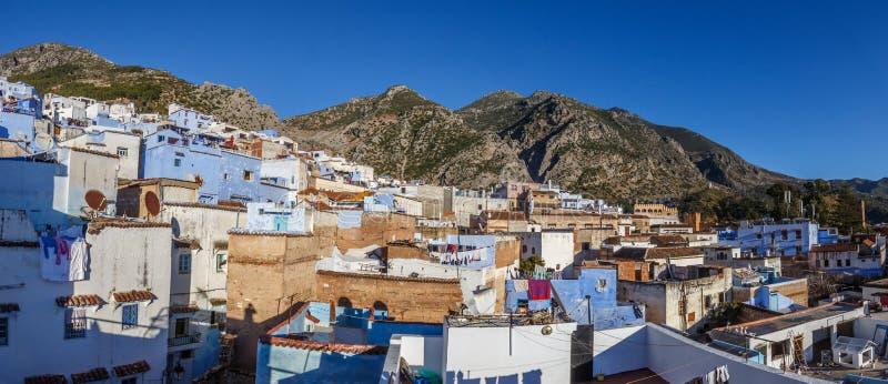 Панорама Medina Chefchaouen стоковые изображения rf