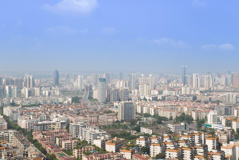 Панорама Mianyang стоковое фото rf