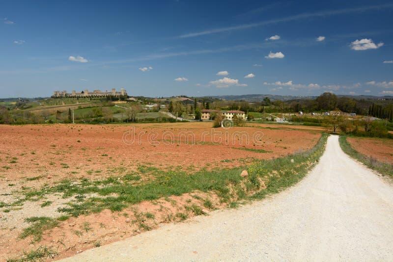 Панорама Monteriggioni Toscana r стоковое фото rf
