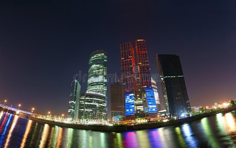 панорама moscow бизнес-центра стоковое изображение rf