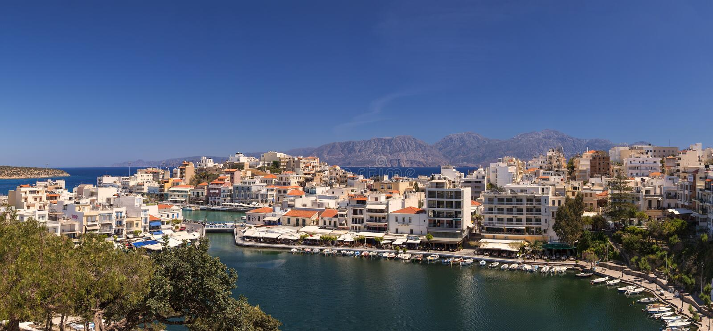 Панорама Nikolaos ажио стоковые фотографии rf