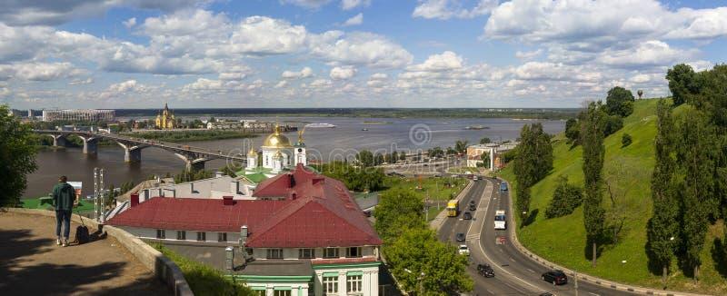 Панорама Nizhny Новгород стоковое изображение rf