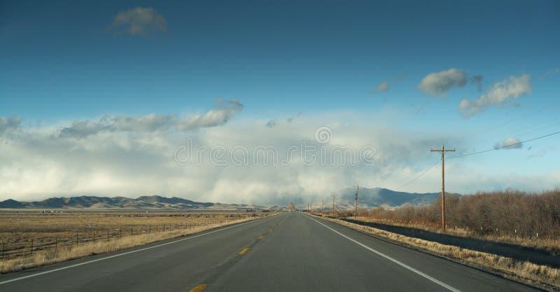 Панорама raod Колорадо стоковые фотографии rf