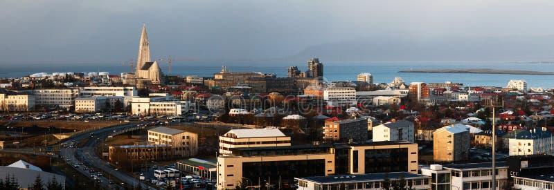 панорама reykjavik стоковое изображение