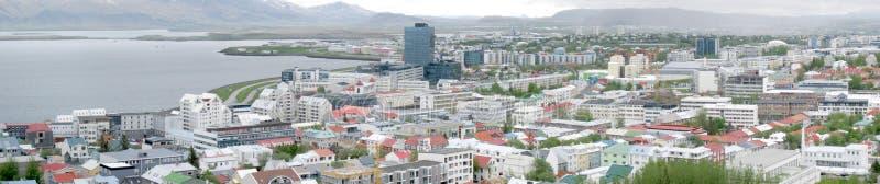 Панорама Reykjavik стоковые фотографии rf