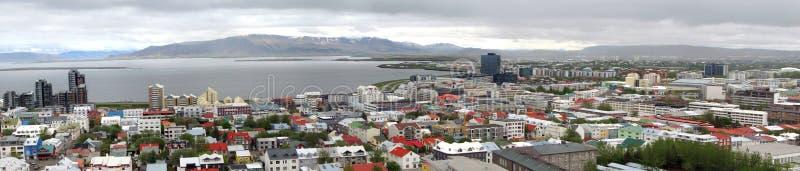 Панорама Reykjavik стоковое изображение rf