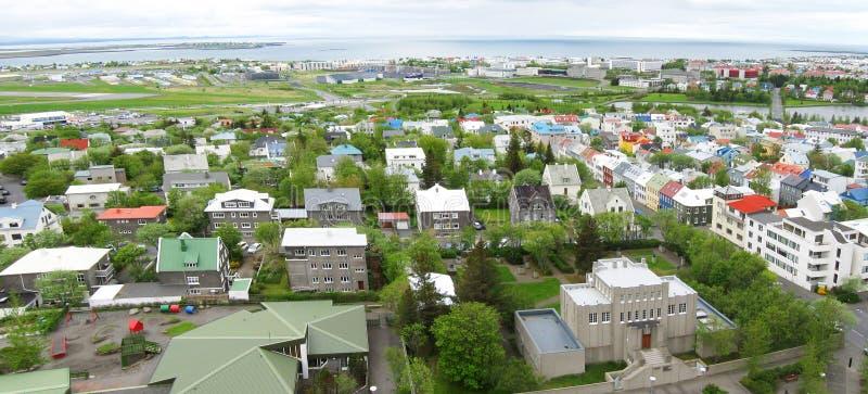 Панорама Reykjavik стоковая фотография