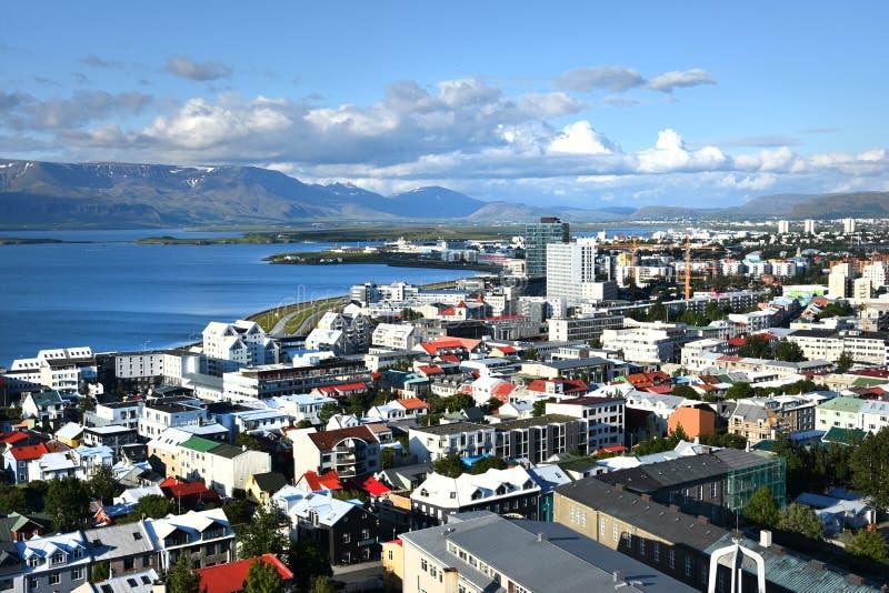 Панорама Reykjavik стоковое фото rf
