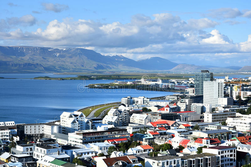 Панорама Reykjavik стоковая фотография rf