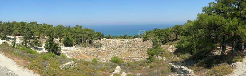 панорама rhodes kameiros стоковые фотографии rf