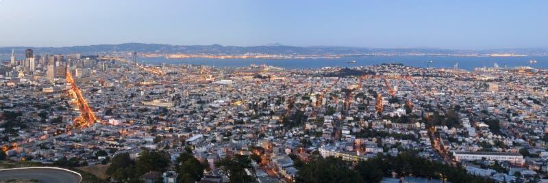 панорама s san francisco стоковое изображение rf