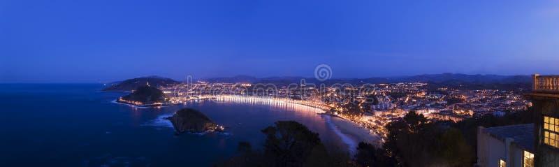 панорама san sebastian стоковые фотографии rf