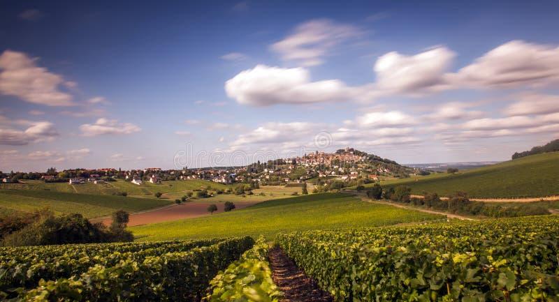 Панорама Sancerre стоковые фотографии rf