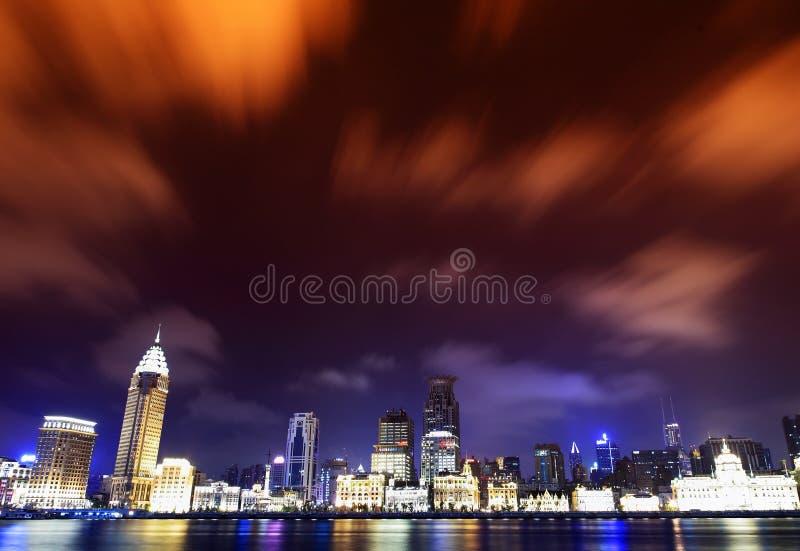 панорама shanghai фарфора bund стоковые изображения rf