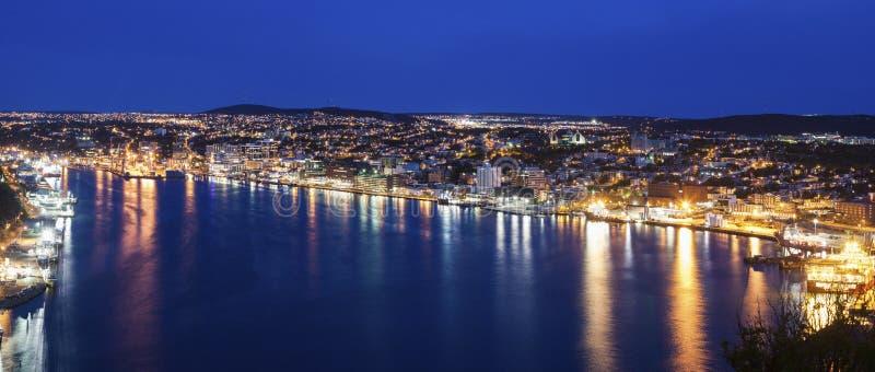 Панорама St. John вечером стоковые фотографии rf
