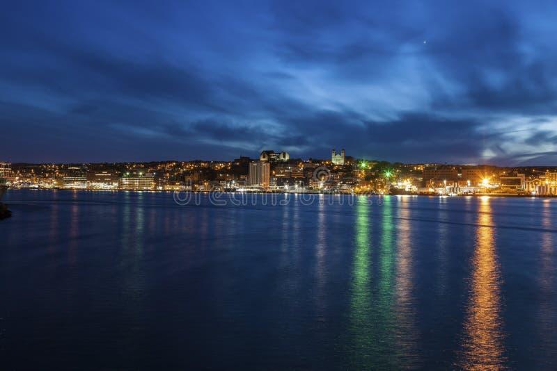 Панорама St. John вечером стоковые изображения