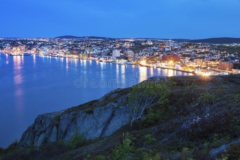 Панорама St. John вечером стоковые изображения rf
