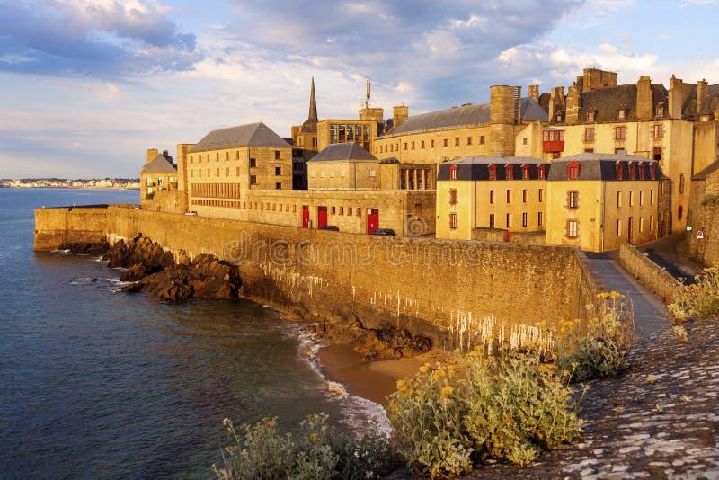 Панорама st-Malo стоковая фотография rf