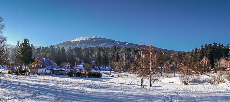 Панорама Szklarska Poreba стоковые изображения rf