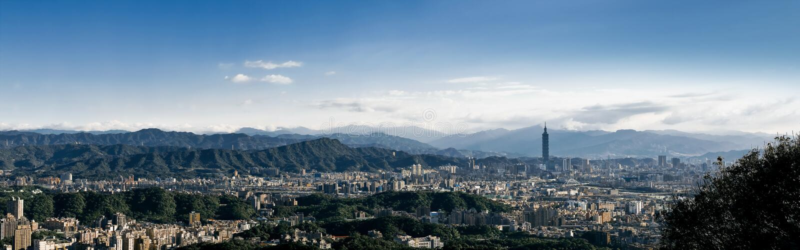 панорама taipei taiwan города стоковая фотография