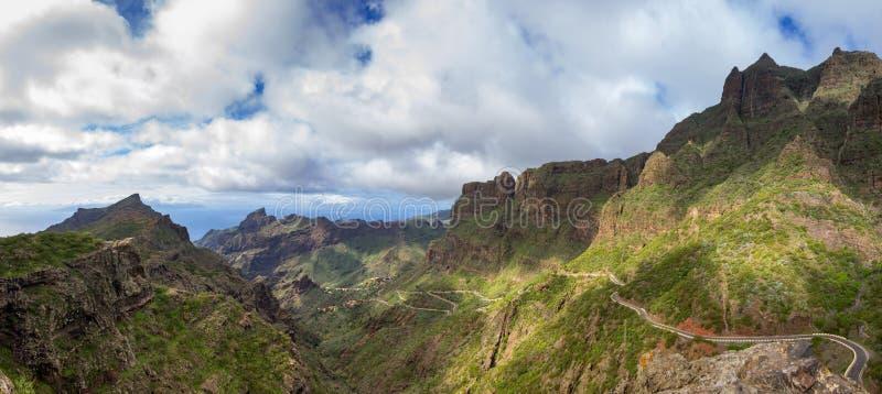 панорама tenerife стоковое фото rf