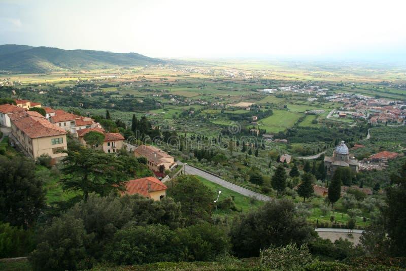 панорама toscana Италии cortona стоковые изображения