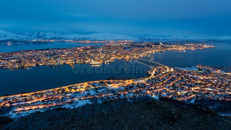 Панорама Tromso стоковые изображения rf