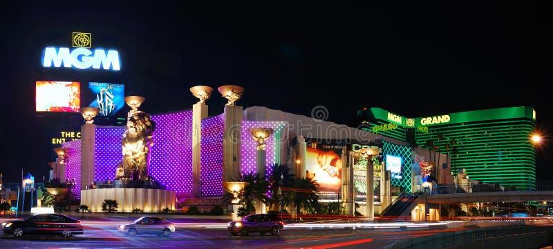 панорама vegas mgm las гостиницы стоковые изображения rf