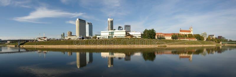 панорама vilnius стоковые изображения