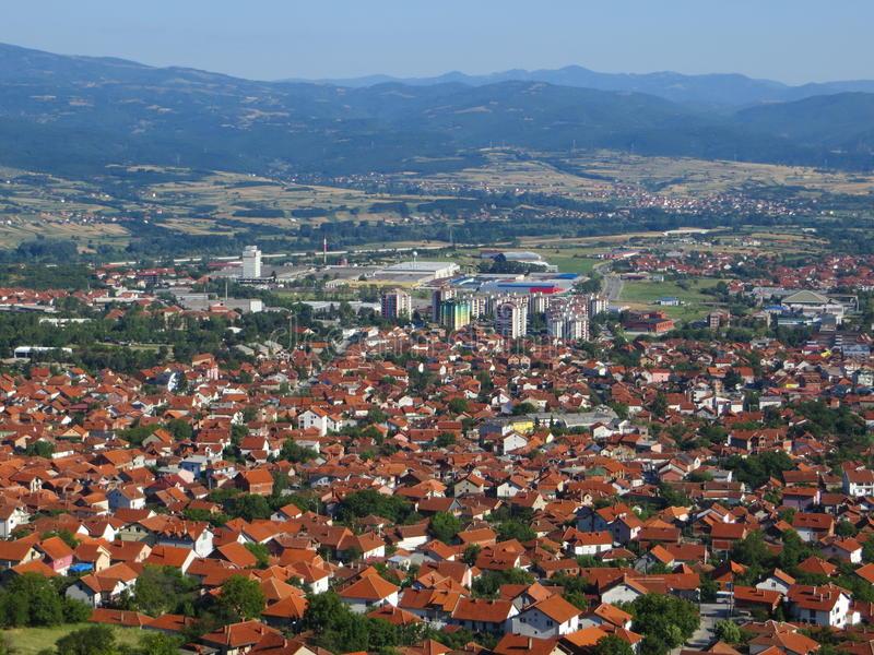 Панорама Vranja стоковое фото