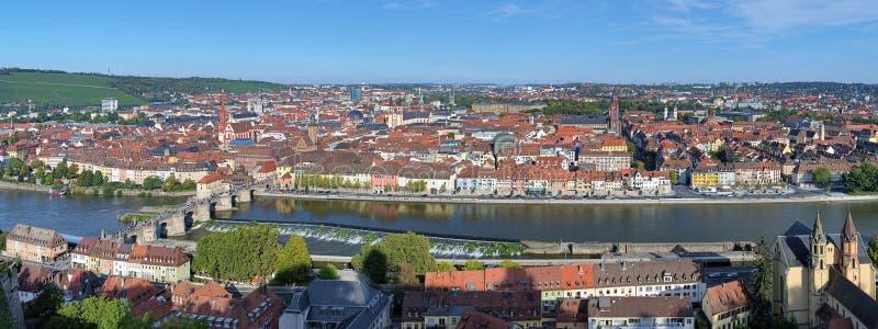 Панорама Wurzburg, Германии стоковое фото rf