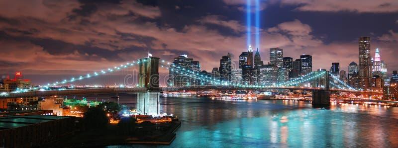 панорама york manhattan города новая стоковые фотографии rf