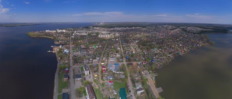 панорама zagreb Хорватии города капитолия Взгляд сверху Пермь Krai Dobryanka стоковое фото