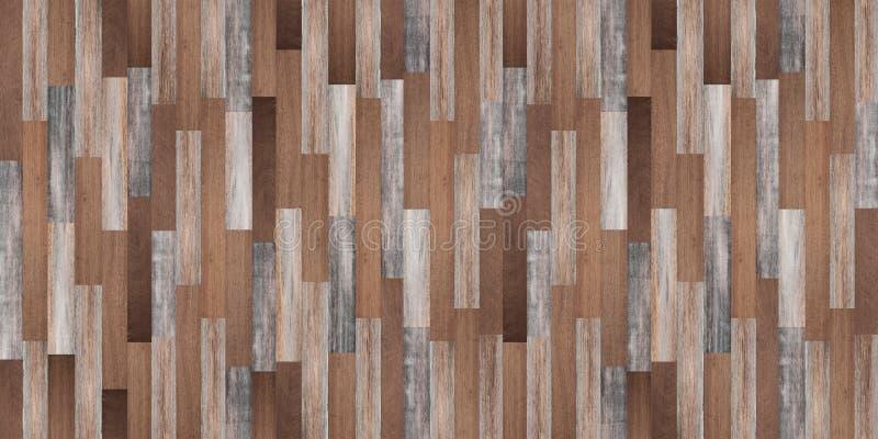 Панорамная деревянная предпосылка текстуры, безшовный деревянный пол стоковые изображения
