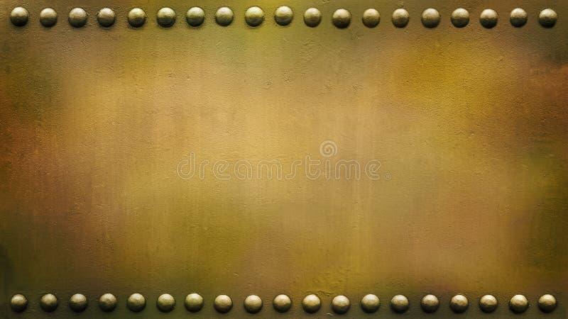 Панорамная заклепанная воинская плита 2 стоковая фотография