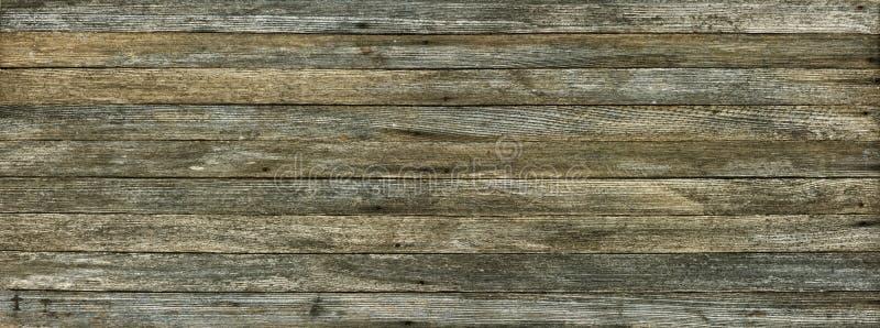 Панорамная предпосылка grunge старых деревянных доск стоковое изображение
