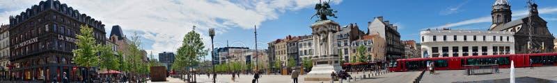 Панорамная съемка, Место de Jaude в Clermont-Ferrand стоковое изображение
