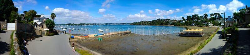 Панорамная съемка порта moines ile острова монахов вспомогательных, в Бретань в Морбиане стоковое изображение