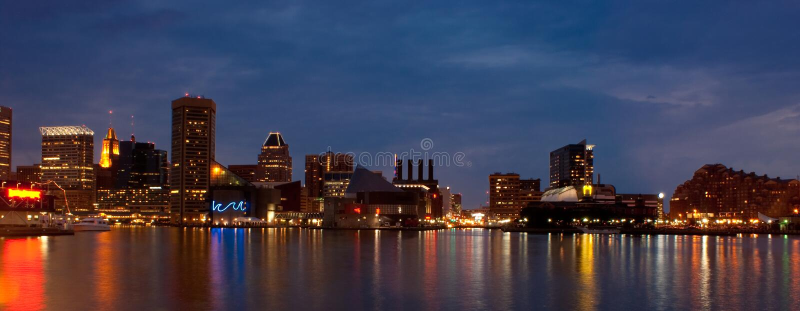 панорамное гавани baltimore внутреннее стоковые изображения