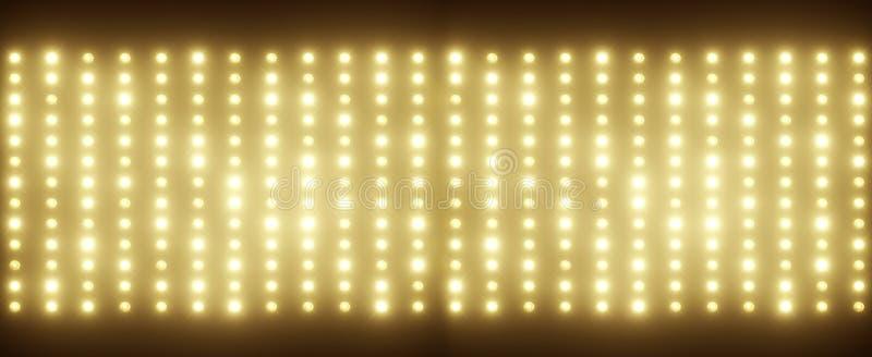 Панорамное изображение крошечных электрических лампочек стоковая фотография rf