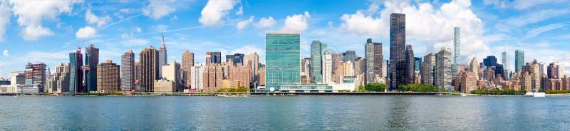 Панорамное изображение центра города Нью-Йорка стоковые фотографии rf