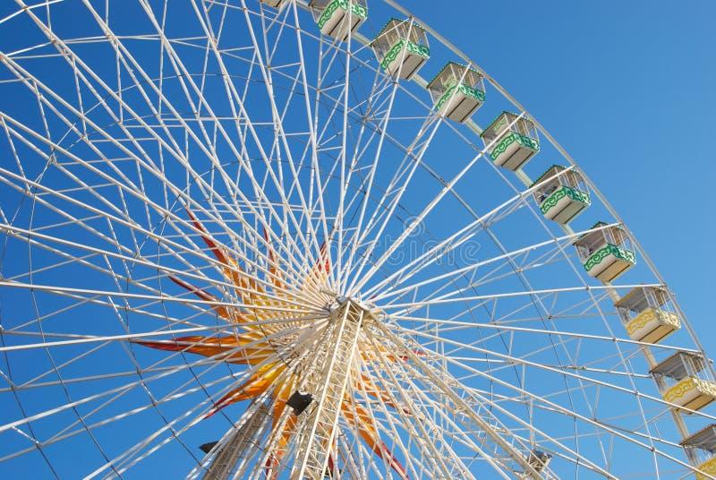 Панорамное колесо с ладонью стоковое фото