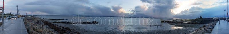 Панорамное фото побережья Голуэй стоковые изображения rf