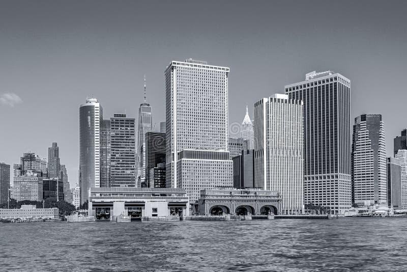 Панорамные виды Нью-Йорка Манхэттена стоковое изображение rf