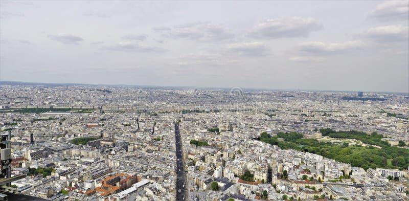 панорамные виды 01_Stunning от максимума на городе Париже стоковое изображение rf