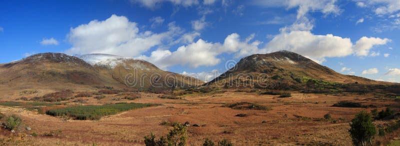 Панорамный взгляд гор Керри стоковая фотография rf