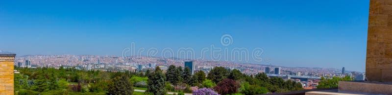Панорамный взгляд к городу Анкары от мемориальной усыпальницы стоковая фотография rf