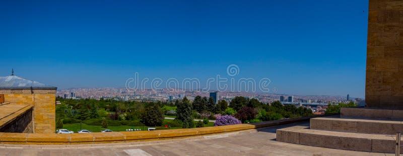 Панорамный взгляд к городу Анкары от мемориальной усыпальницы стоковое изображение